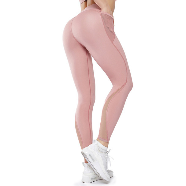 pink workout leggings with pockets