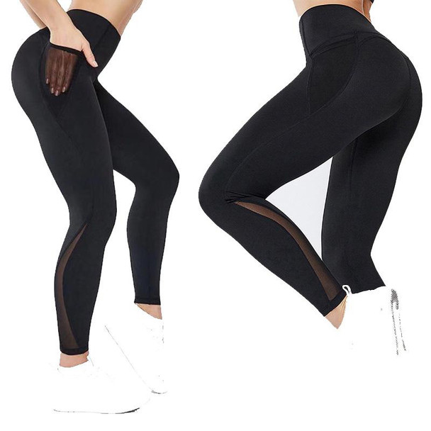 black yoga pants with pockets for women