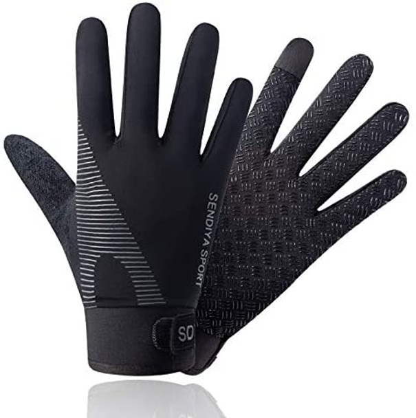 mens black workout gloves with extra girp