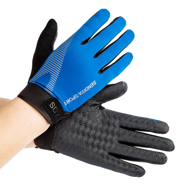 black blue weight lifting gloves