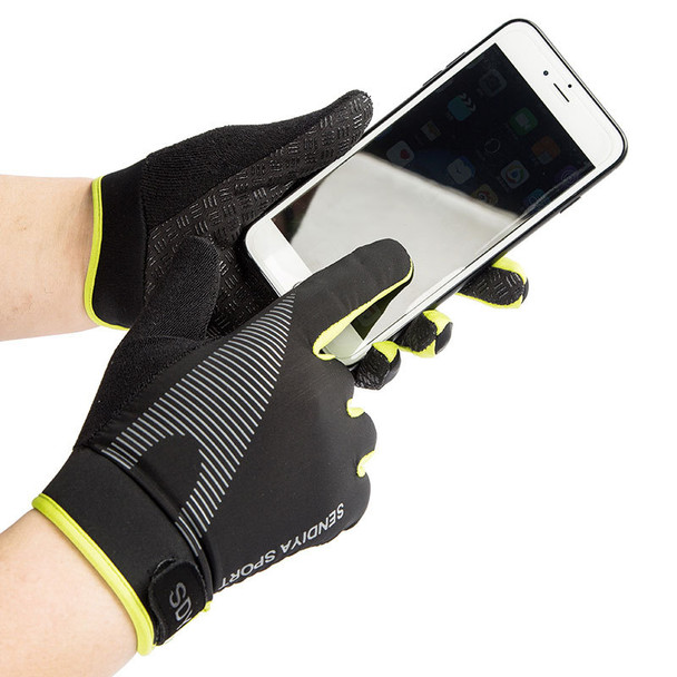 full finger workout gloves in mobile touch