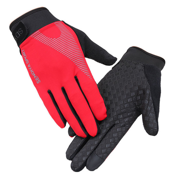mens red gym workout gloves full palm protection