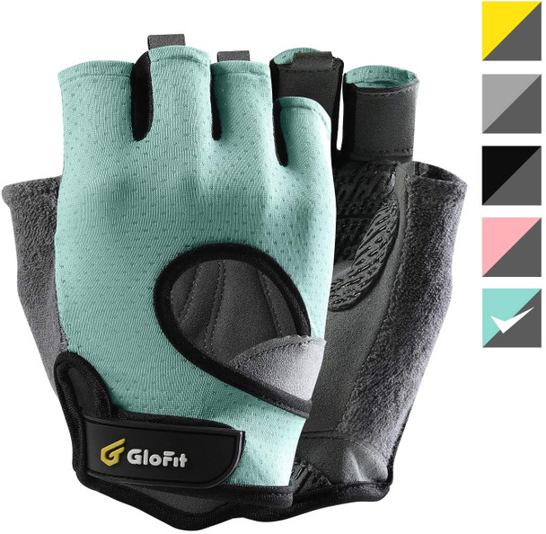 light blue gloves without fingers