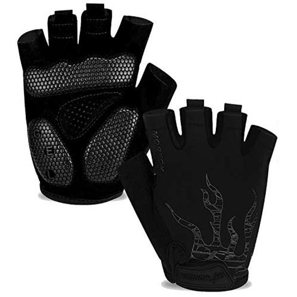 black mountain bike gloves