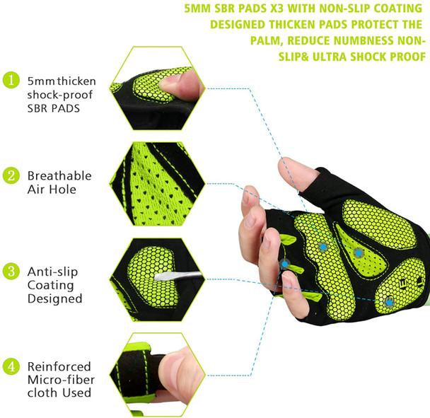 anti-slip shock-absorbing gel cycling gloves