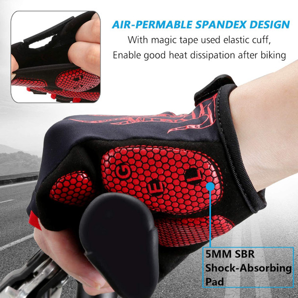 gel cycling gloves with SBR pad
