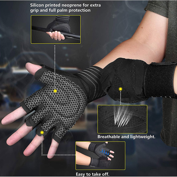 full plam protection weightlifting gloves