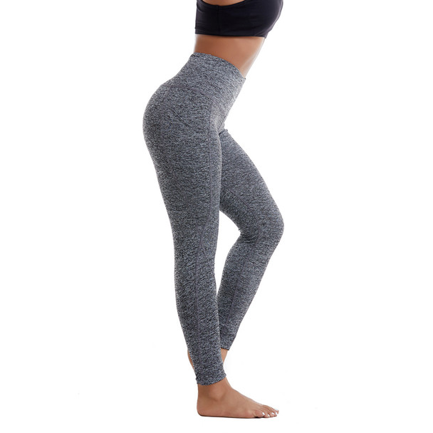 gray leggings yoga pants with side pockets