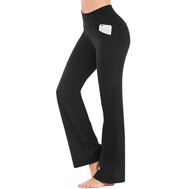 black yoga pants with pockets