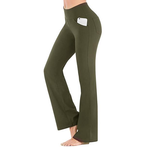 green womens yoga pants