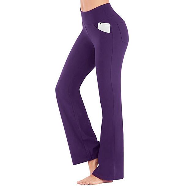 bootcut yoga pants in purple color