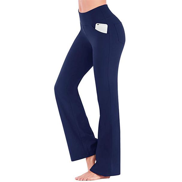 navy blue bootcut pants