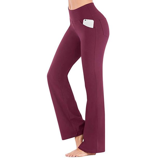 yoga pants women wine color