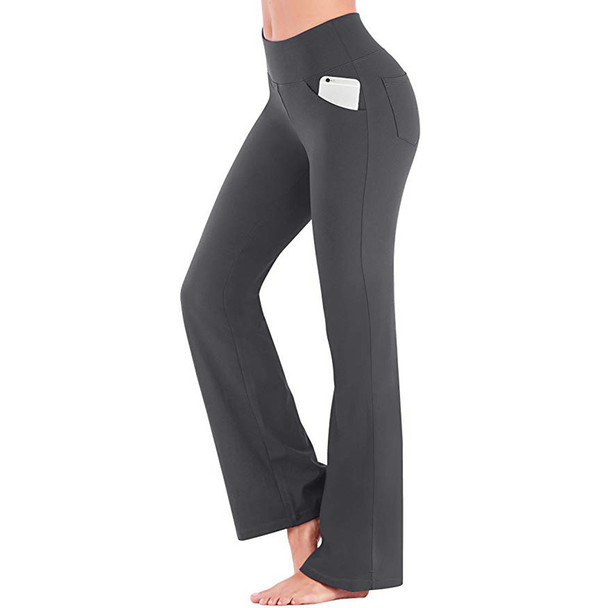dark gray women yoga pants