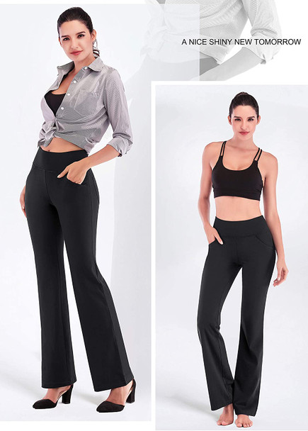 tall women with long length workout leggings yoga pants put her hand in pant's pocket