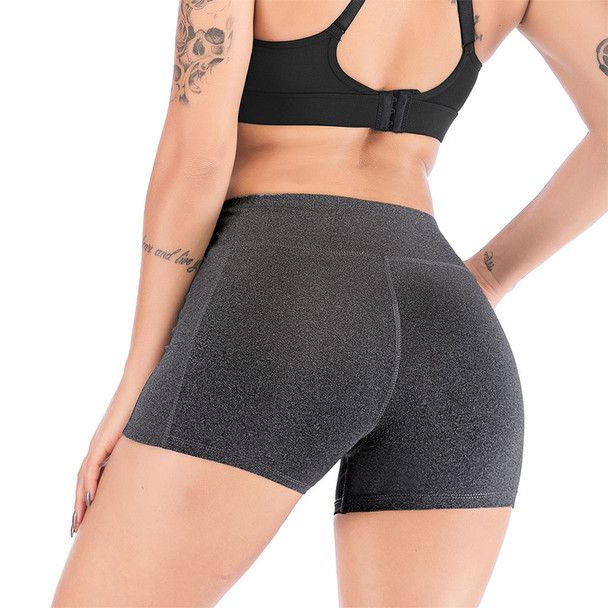high waisted yoga shorts for women
