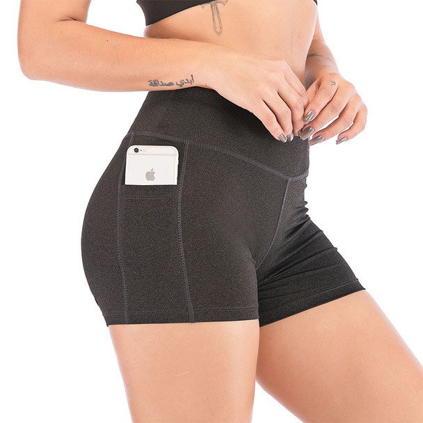 yoga shorts women put phone in side pocket