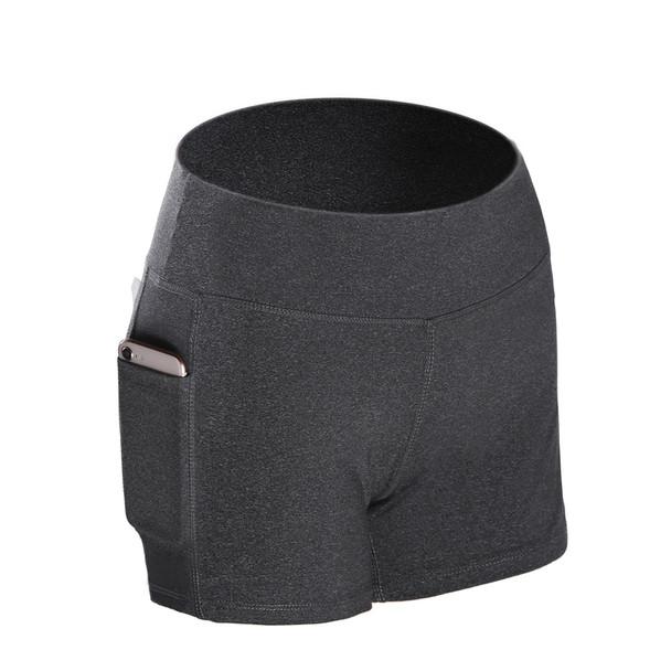 girl yoga shorts in gray