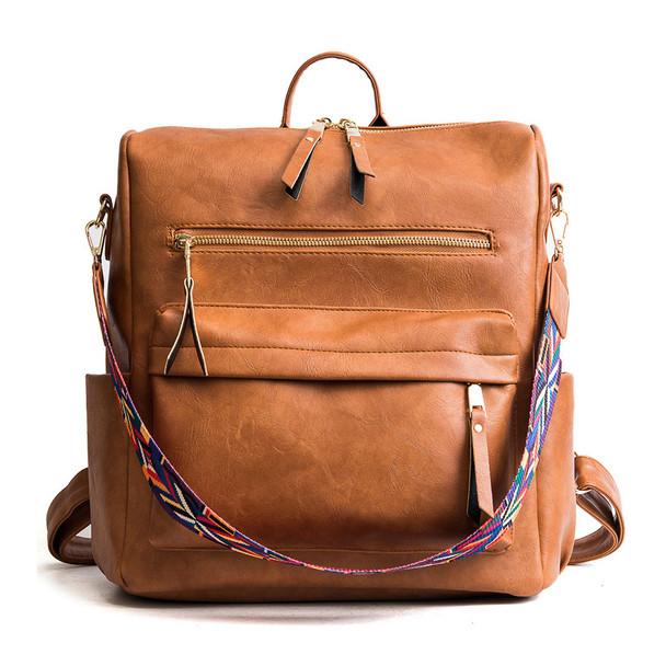 women's brown backpack
