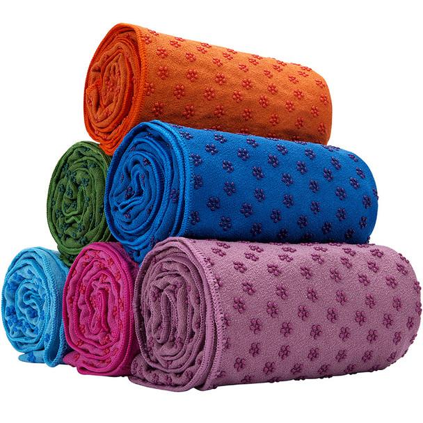 Multi color yoga towels
