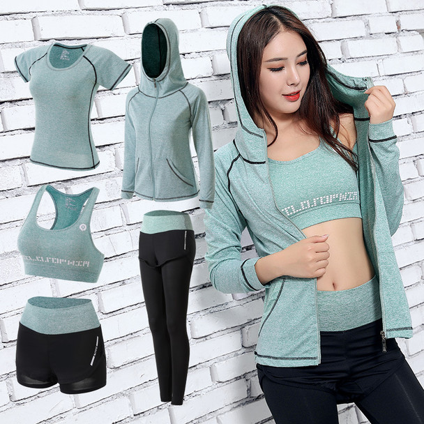 gym outfits yoga green set for women