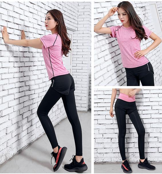 women best pink gym clothes set in 2020
