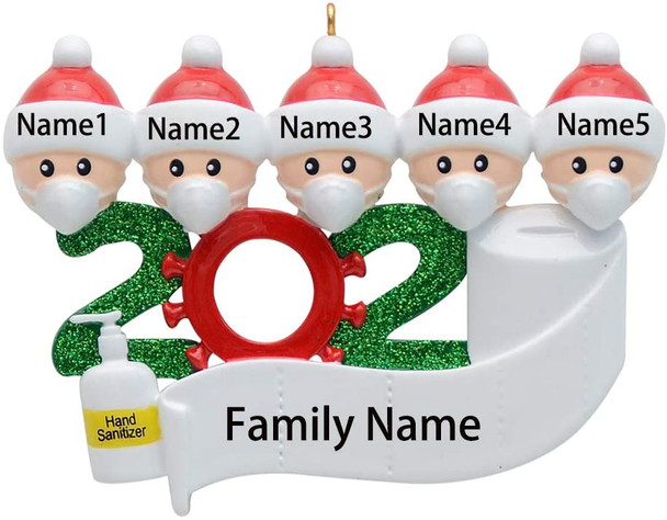 2020 Quarantine Christmas Decoration Family Gift Toys Hanging Ornament Survivor