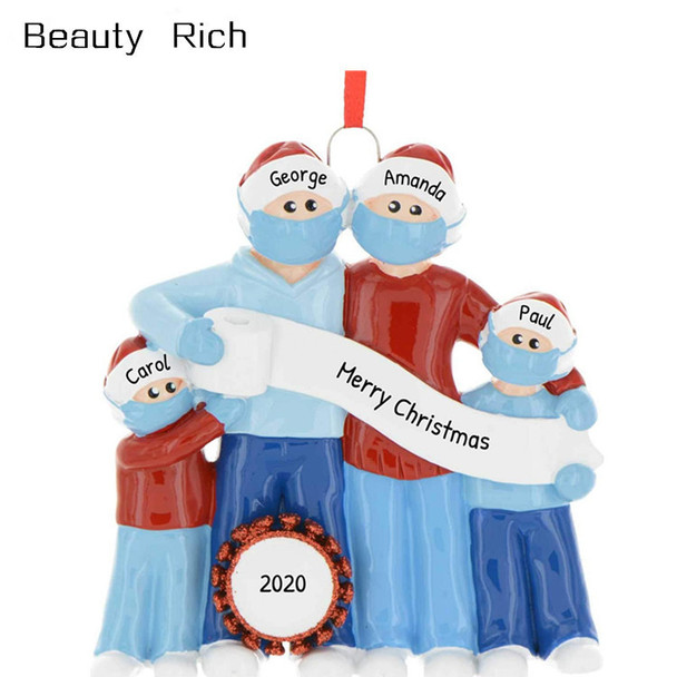 2020 DIY Name Blessings Snowman Christmas Tree Hanging Pendant PVC Decorations