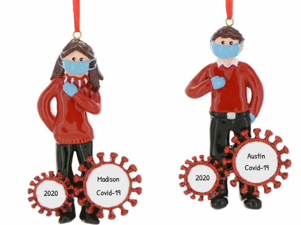 2020 Men Women Couples DIY Name Christmas Tree Hanging Pendant