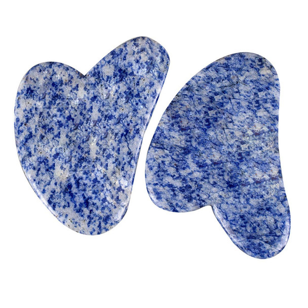 Sodalite Gua Sha Scraping Massage Tool, Natural Crystal Heart Shape Scraping Board Scraper Tool