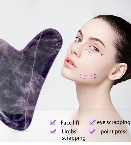 women face skin scraper