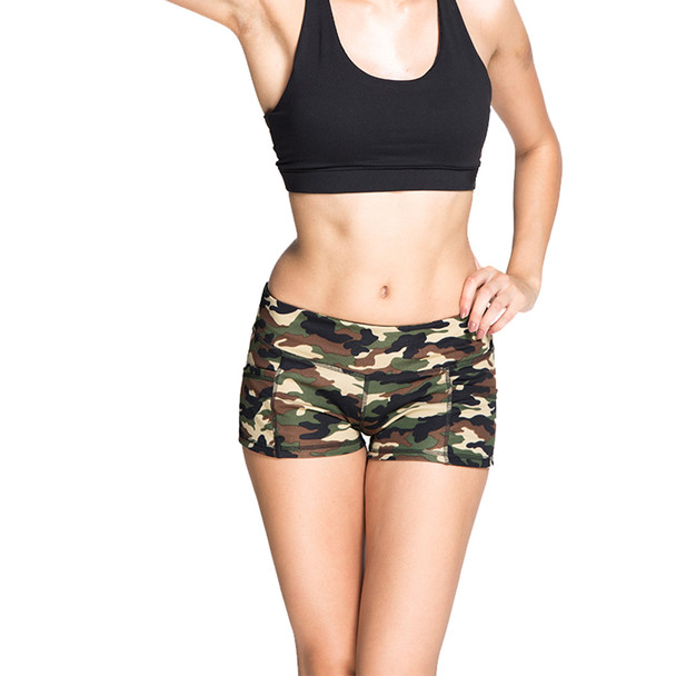 womens camo shorts