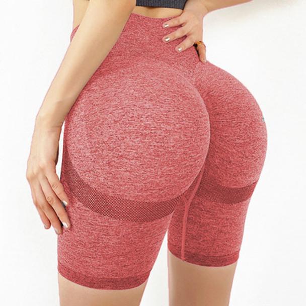 Slim Fit High Waist Yoga Sport Shorts Hip Push Up Women Plain Soft Nylon Fitness Running Shorts Tummy Control Workout Gym Shorts