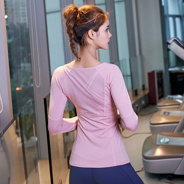 Sports Tops Gym Women Fitness T Shirt Woman Long Sleeve Yoga Top Mesh Womens Gym Tops Sport Wear