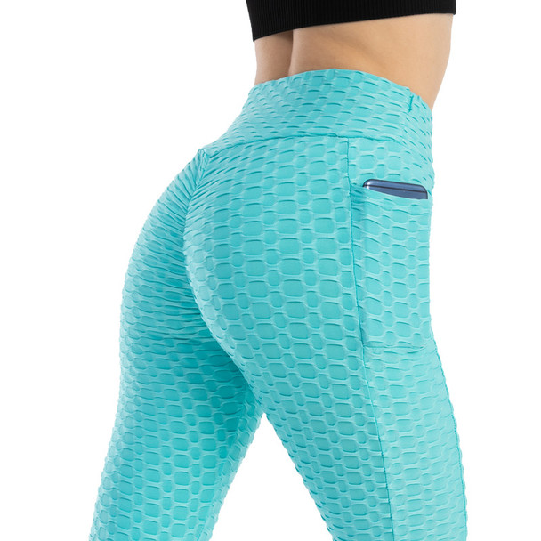 Bubble Yoga Pants with Pockets Slim Fit Leggings for Women