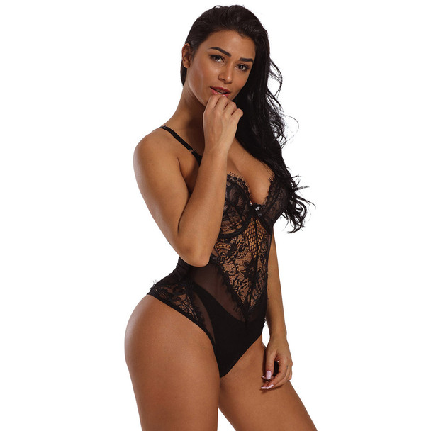 Womens Sexy One-piece Stockings Three-point Underwear