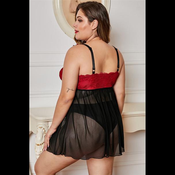 Womens Sexy Lace Tulle Nightdress