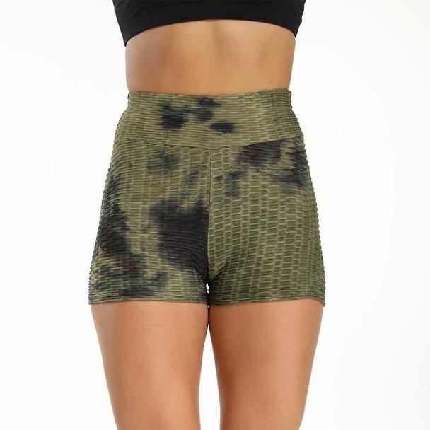 Women's Jacquard Breathable Tie-dye Yoga Shorts