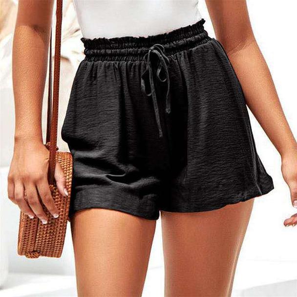 Plus Size Causal Elastic Shorts Mid-waist Women Pants