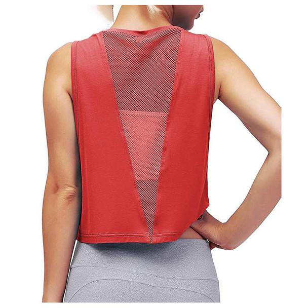 Mesh Sports Vest Fitness T-shirt Women Yoga Clothes