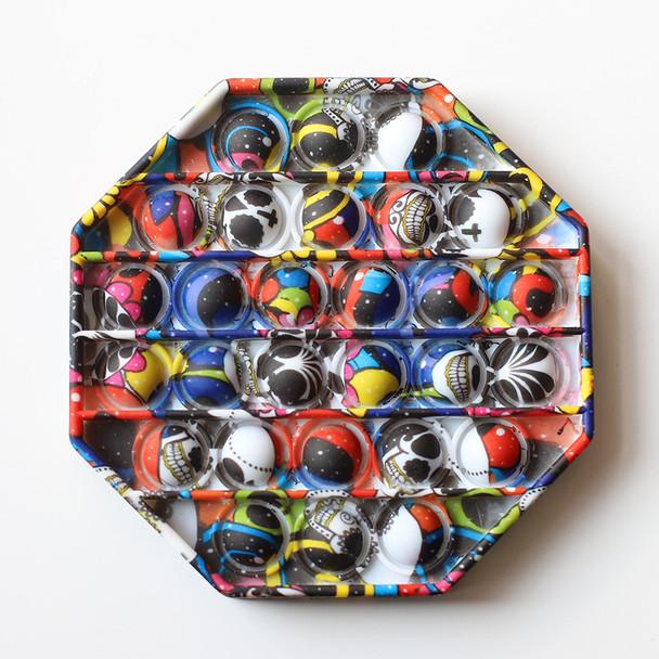 color nine blue and black face diy fidget toys