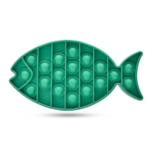Fish Push Bubble Fidget Sensory Toy Child Anti-Stress Squeeze Toys