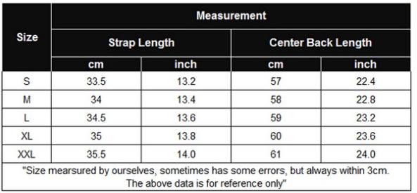 womens nightwear size chart