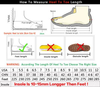 Mens Shoes Size Chart
