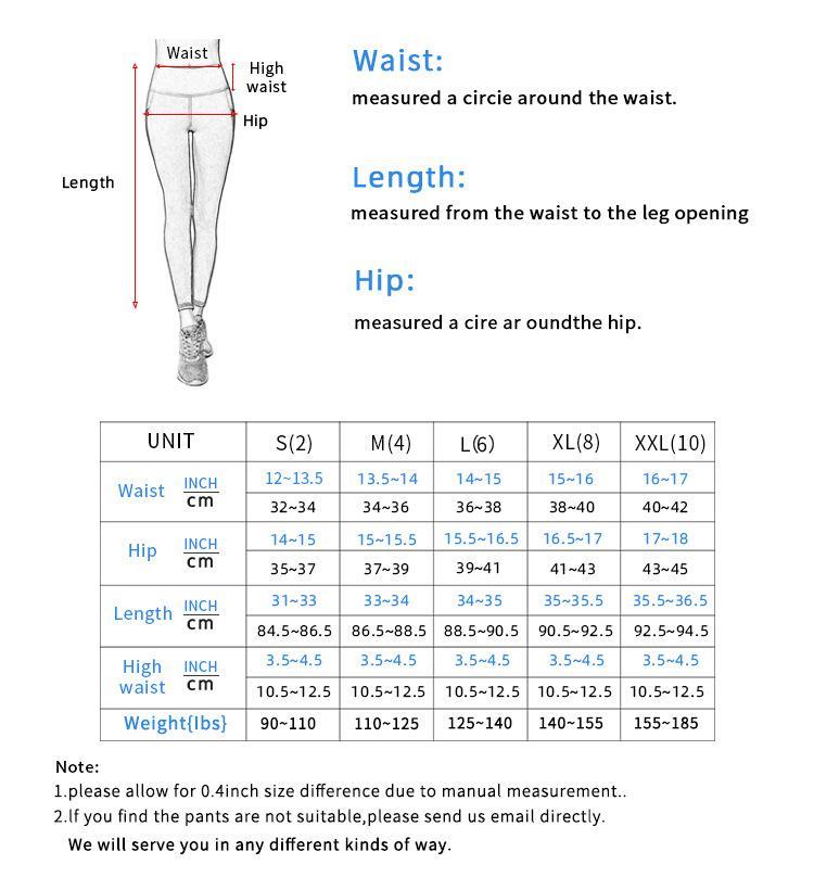 Women Pants Size Chart