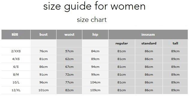 Yoga Shorts Size Chart YG19