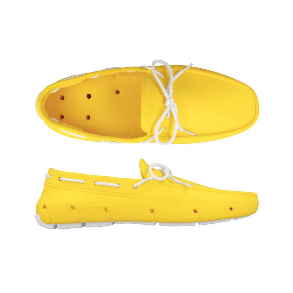 Yellow & White Deck Shoe
