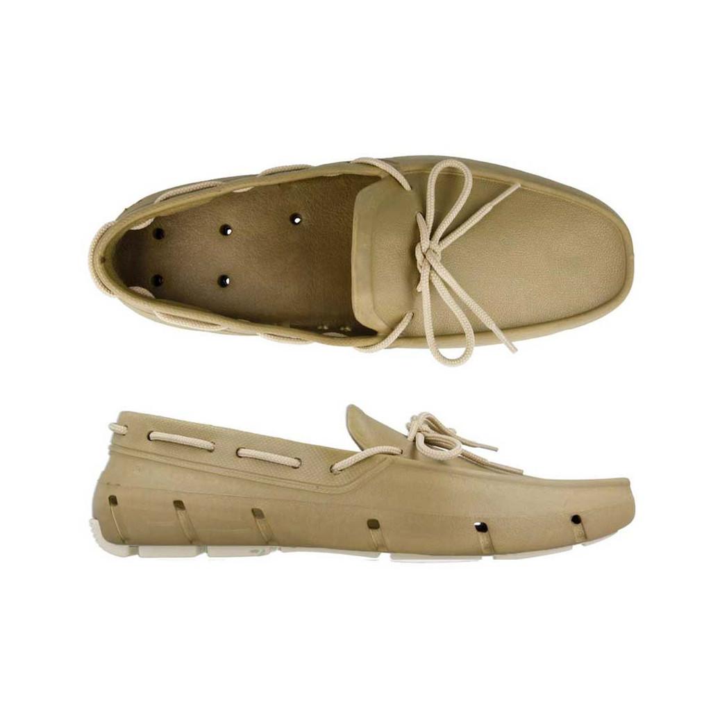 Khaki & Vanilla Deck Shoe