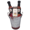 Bucket with your choice of 2 flavors of Two Heads Hot Sauce and a jar of Nash Dust.