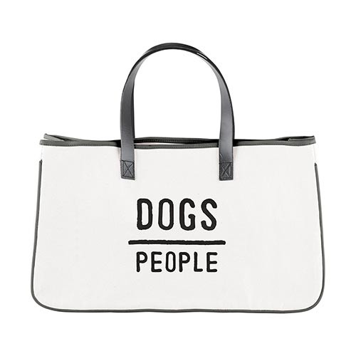 Canvas Tote - Dogs Over People